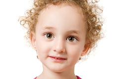 Pretty curly blond  little girl Royalty Free Stock Photography