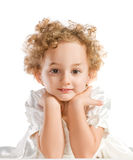 Pretty curly blond  little girl Royalty Free Stock Image
