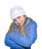 Pretty curly blond little girl Royalty Free Stock Photos