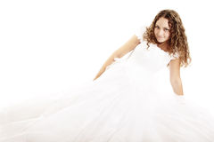 Pretty curly bride Royalty Free Stock Image