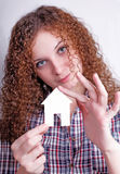 Pretty curly girl dreams Royalty Free Stock Photo