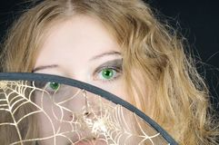 Pretty curly green-eyed girl l Royalty Free Stock Photos