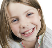 A pretty cute blonde five year old girl Stock Photography