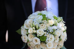 Pretty cute bridal wedding bouquet Royalty Free Stock Images