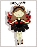 Pretty cute girl ladybug Stock Photography