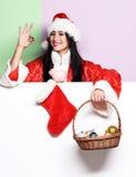 Pretty cute sexy santa girl Stock Photography