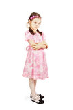 Pretty cute young girl wearing the pink dress Royalty Free Stock Photo