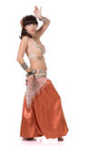 Pretty dancer dancing belly dance. Stock Images