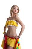 Pretty dancer in mexican costume Stock Photo