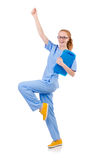 Pretty dancing  doctor Royalty Free Stock Photography