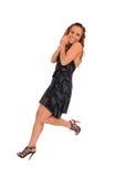 Pretty dancing girl Stock Photos
