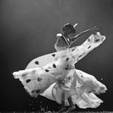 Pretty dancing girl Stock Images