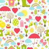 Pretty delicate seamless spring pattern Royalty Free Stock Photo