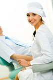 Pretty dentist Stock Images