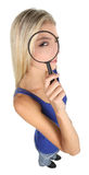 Pretty Detective Lady Concept Royalty Free Stock Images
