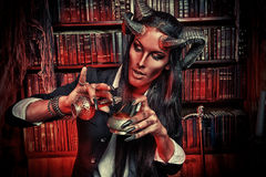 Pretty devil Royalty Free Stock Photography