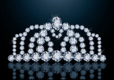 Pretty diamond diadem Royalty Free Stock Photography