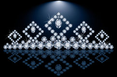 Pretty diamond princess diadem Royalty Free Stock Photos