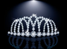 Pretty diamond princess diadem Royalty Free Stock Photo