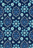 Pretty ditsy floral on navy Stock Photos
