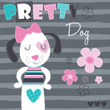 Pretty dog vector illustration Stock Images