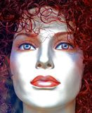 Pretty Doll Face. Artificial Face of Plastic fashion model royalty free stock photography