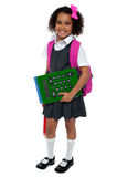Pretty doll is ready for school Royalty Free Stock Photo
