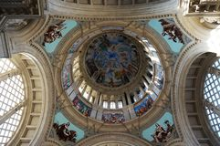Pretty Dome of the National Art Museum of Catalunya. Photo of dome inside the national art museum of catalunya in barcelona spain. This museum features beautiful royalty free stock images