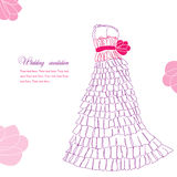 Pretty dress illustration Stock Images
