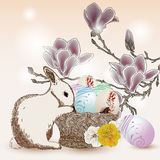 Pretty easter scene Stock Photo
