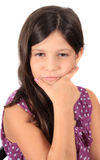 Pretty eight year old girl Stock Images