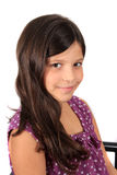 Pretty eight year old girl Stock Photography
