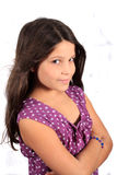 Pretty eight year old girl Royalty Free Stock Image