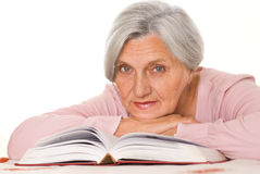 Pretty elderly woman Royalty Free Stock Photo