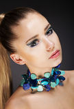 Glamor. Romantic Elegant Girl with Accessories. Gemstones Beads Royalty Free Stock Image