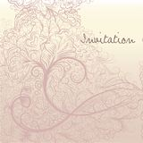 Pretty elegant save the date card with swirls in soft colors Stock Illustration