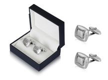 Pretty and Elegant silver stud earrings with beautiful black box stock photos