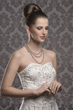 Pretty elegant woman Royalty Free Stock Images