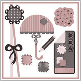 Pretty elements for scrapbook. A set of pretty elements for scrapbook Royalty Free Stock Images