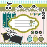 Pretty elements for scrapbook. Pretty decorative elements for scrapbook Stock Photography
