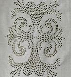 Pretty Embroidery design on white cloth Royalty Free Stock Photo