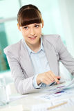 Pretty employee Stock Photography