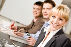 Pretty employee Stock Images