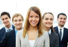 Pretty employer Royalty Free Stock Image