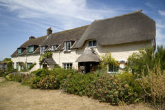 Pretty English Cottages. Cottages at Porlock Weir, Somerset, England Royalty Free Stock Photography