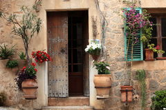 Pretty entrance to a rural house Royalty Free Stock Images