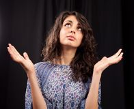 Pretty ethnic lady in retro dress Royalty Free Stock Photography