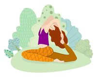 Yoga in the Park stock illustration