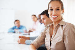 Pretty executive smiling Royalty Free Stock Image
