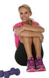 Pretty Exercise Girl Royalty Free Stock Images